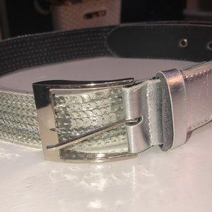 Aha I silver shimmer belt
